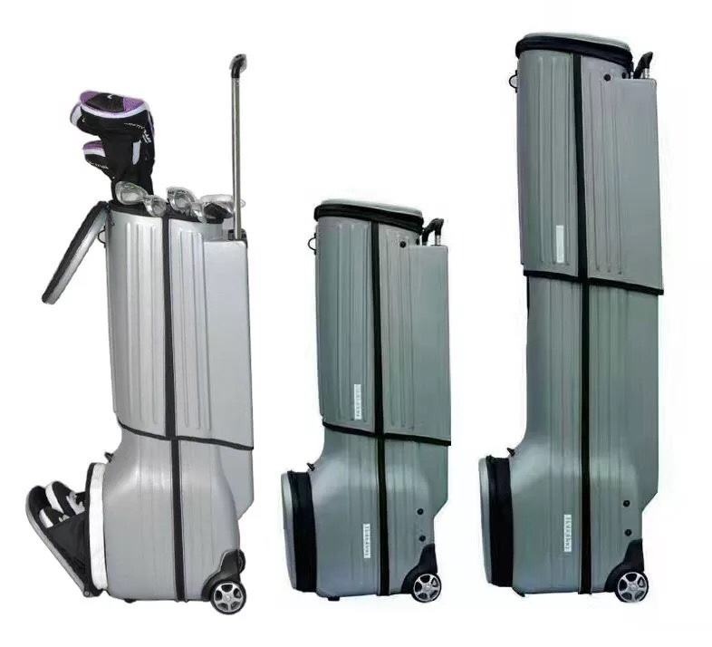 High quality Plastic Golf Travel Bag with wheels