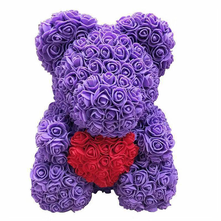 Flower teddy bear bouquet flowers bear valentine teddy rose bear flower wholesale with box