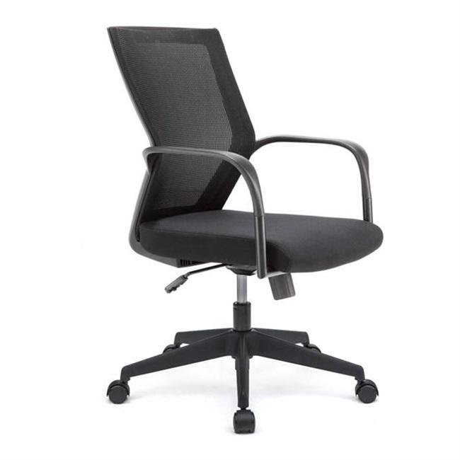 Good Price Pass BIFMA Test Mid Back Nylon Base PA Fixed Armrest Office Chair