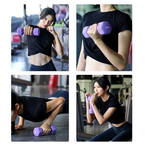 2020 Cheap Hot sale Colorful Vinyl Coated Woman Dumbbell Set