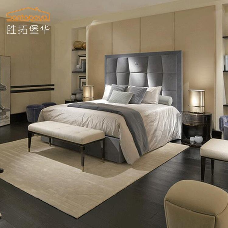 china import furniture bedroom new design king size 1.8m bed High-end fabric Bed