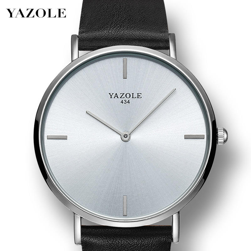 Wholesale YAZOLE M 434 Fashion China Factory Mens Customize Business Watches Europe Minimalist Watch 2020 top sales for amazon