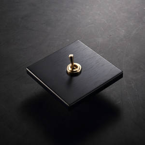 black brushed metal plate designed copper brass toggle 1gang 2way wall switch rocker type