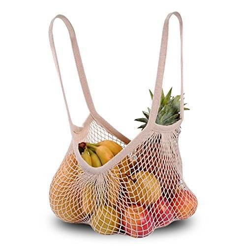 Cotton Net Mesh Produce bag for shopping,Cotton Net Shopping Tote Ecology Market String Bag Organizer