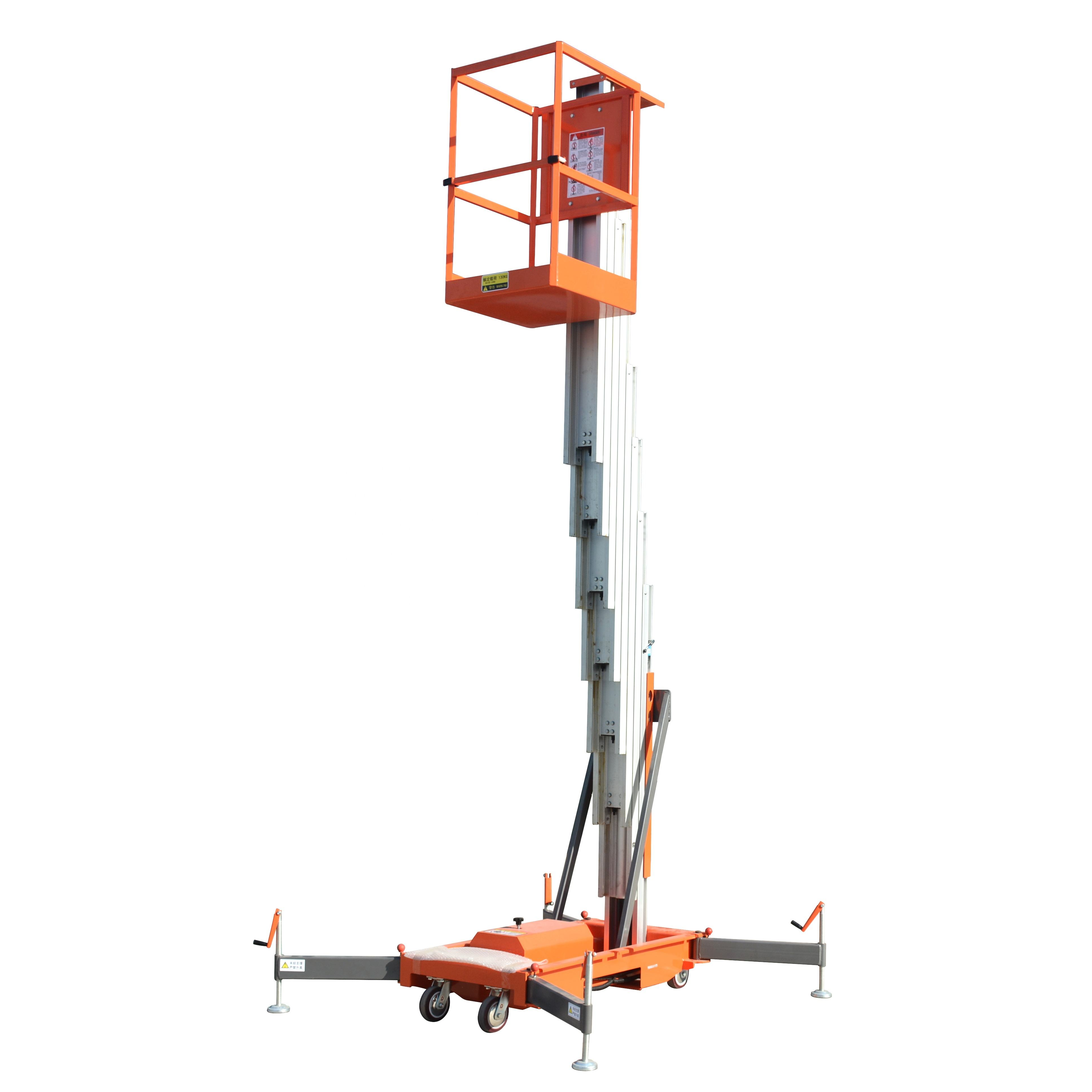 4-10m 100kg Aluminum Mast Aerial Work Platform Manlift with Ce