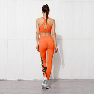 yoga set printed compression yoga pants sport leggings high waisted workout butt lift fitness gym women yoga leggings