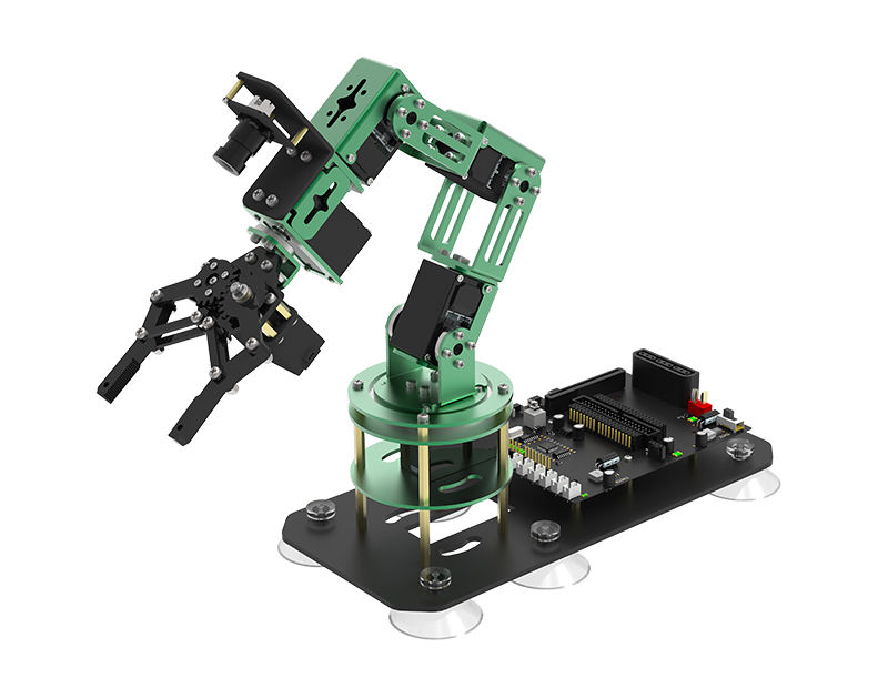 Jetson Nano 4GB B01 Robot Arm contains 6 HQ servos and HD camera 2 in 1 kit compatible with Raspberry Pi Arduinos Micro:bit