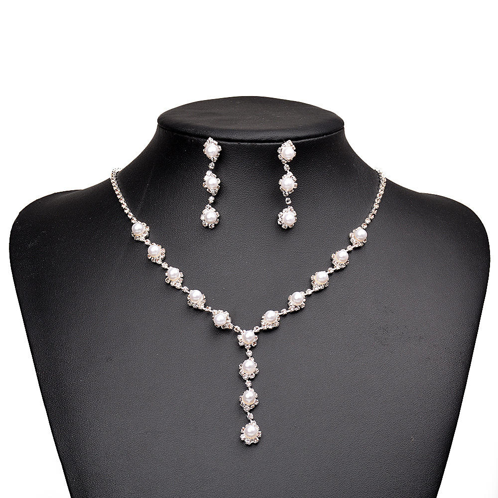Costume Quality Crystal African Beads Jewelry Set/nigerian pearl jewelry set wedding RS71