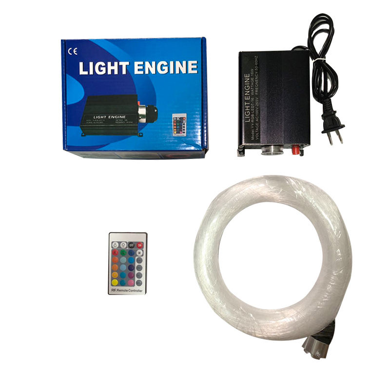 Factory sale LED fiber optic light kit generator engine touch controller end glow fiber optic cable