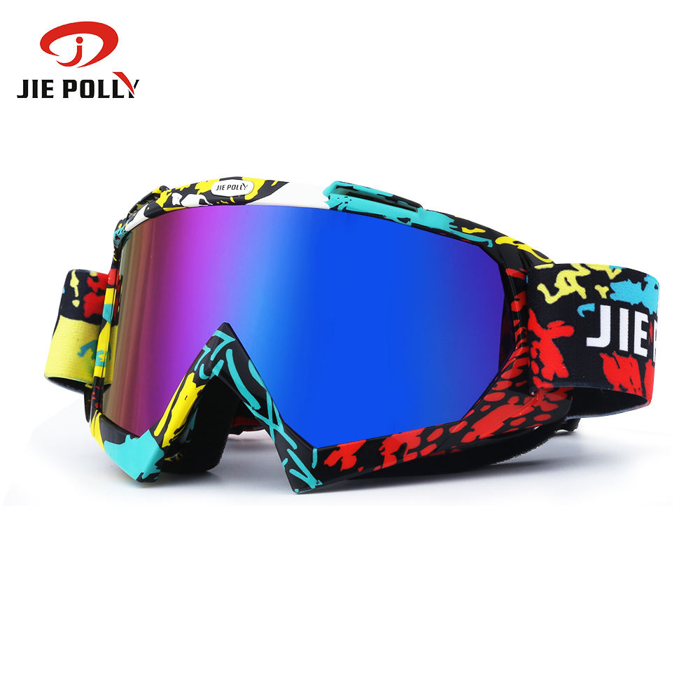 Manufactured Custom Strap comfortable PC material windproof waterproof tear off motocross goggles motorcycle googles