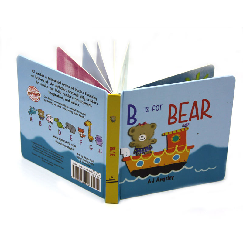 Customized Die Cut Childrens' Board Printing Story Cardboard Book Printing
