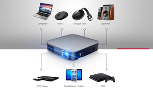 Latest Android projector Amlogic S905 DLP 4k HD Mini home theater S200 TV projector