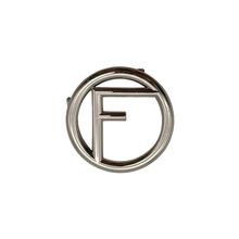 Wholesale hang plating nickel metal letters alphabet slide buckle charms logo for bags accessories