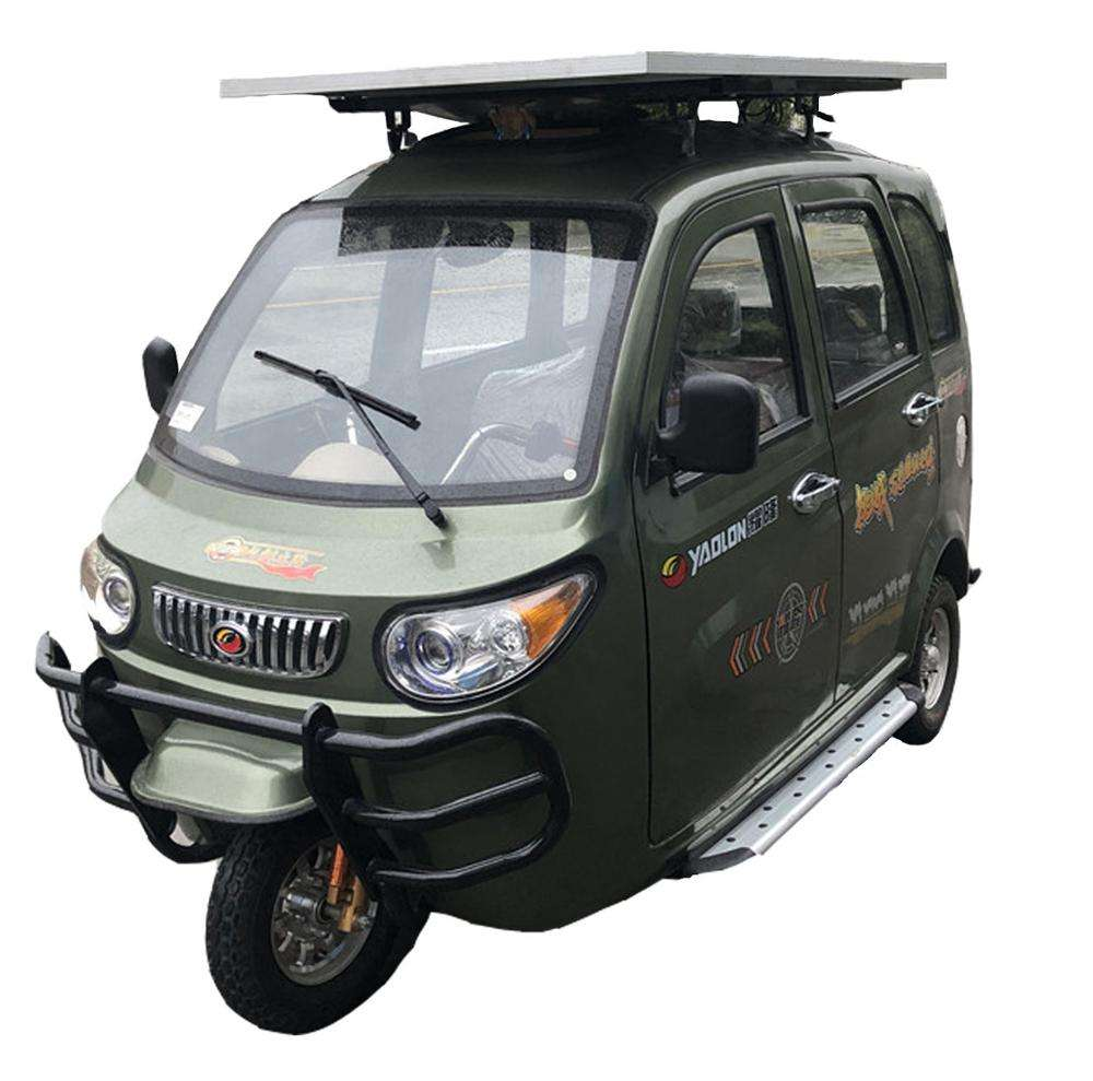 China YAOLON Xiaofeilong Tricycles 3 Wheel passenger Electric with new energy solar panel electric tricycle adult