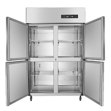 Stainless steel vertical commercial four-door freezer for household hotel supermarket catering industry freezing