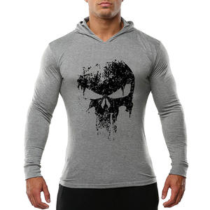 Men Bodybuilding Hoodies Sweatshirt Pullover Hip Hop Mens Clothing Punisher Gyms Sportswear Cotton Workout Thin hoodie Hoody