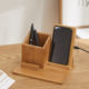 Wireless Charger with Organizer Wood Wireless Charging Station for iPhone 11 X 8 Plus and Samsung S7 Edge S8 Plus S9 Plus Note 8