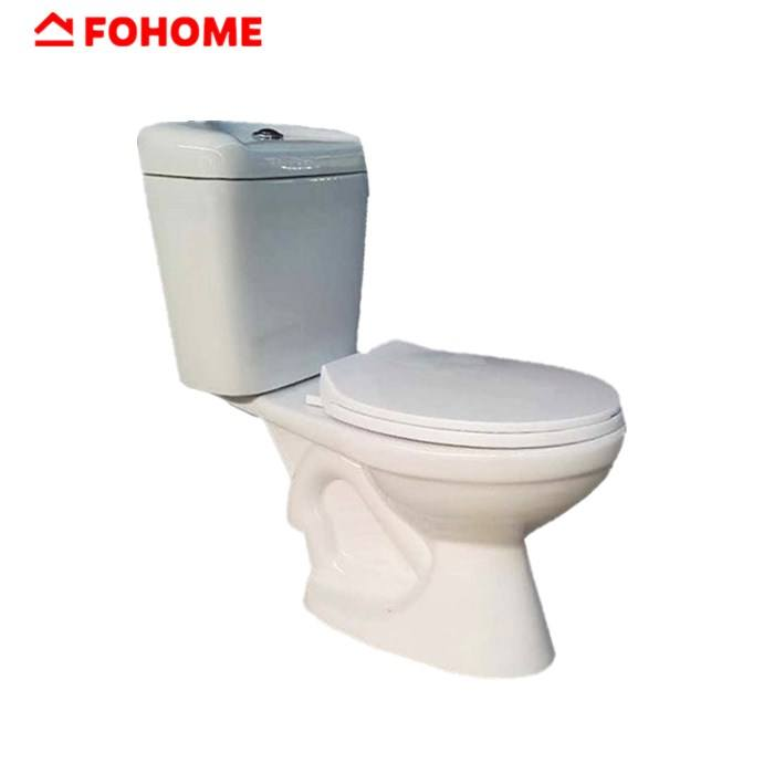 Cheap white siphonic two piece ceramic toilet set sanitary ware in china