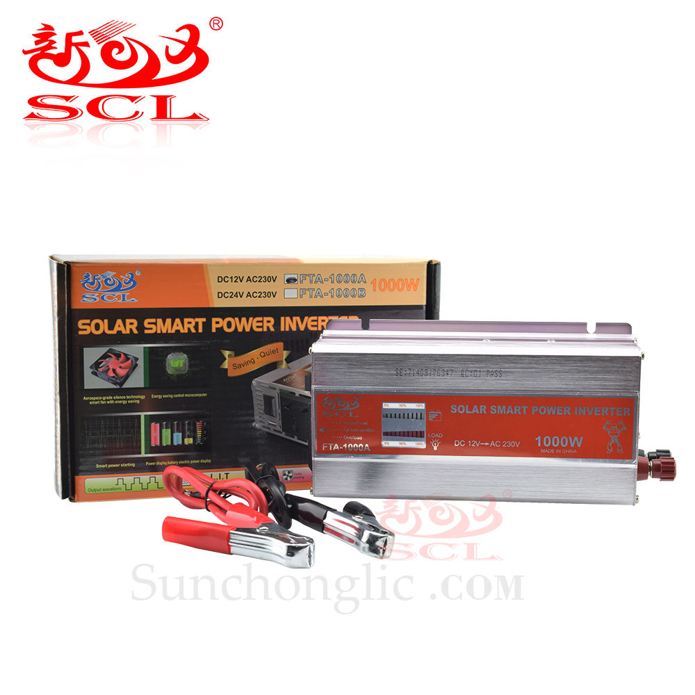 Sunchonglic Modified Sine Wave Power Inverter DC 12V AC 220V 1000 Watt Tenaga Surya