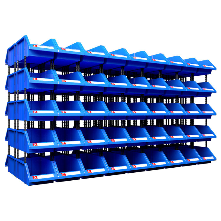 Plastic stackable parts bins shelf Bins for warehouse storage