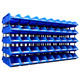Plastic stackable parts bins for warehouse tool storage bin