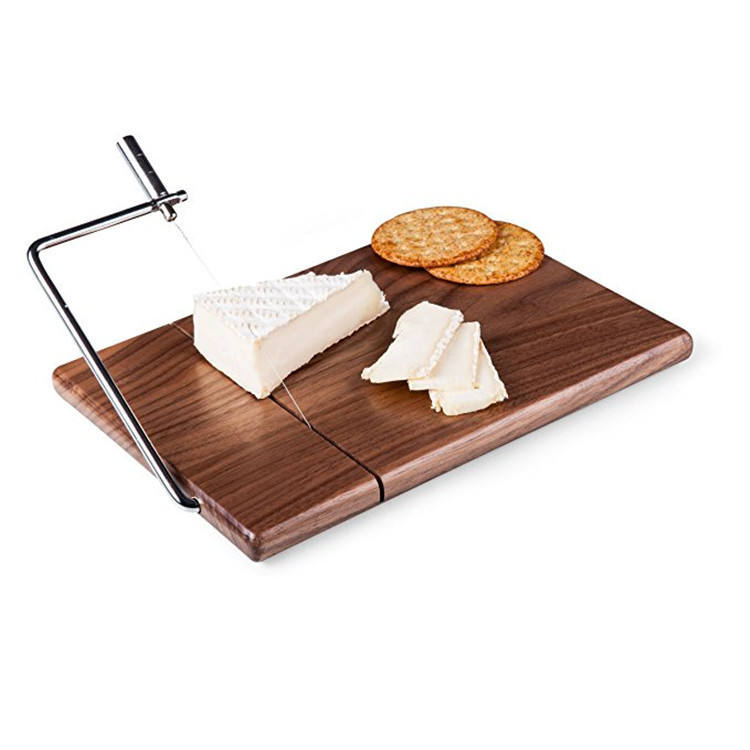 Chopping Blocks slicer with Stainless Steel Cutter wooden Cheese cutting board