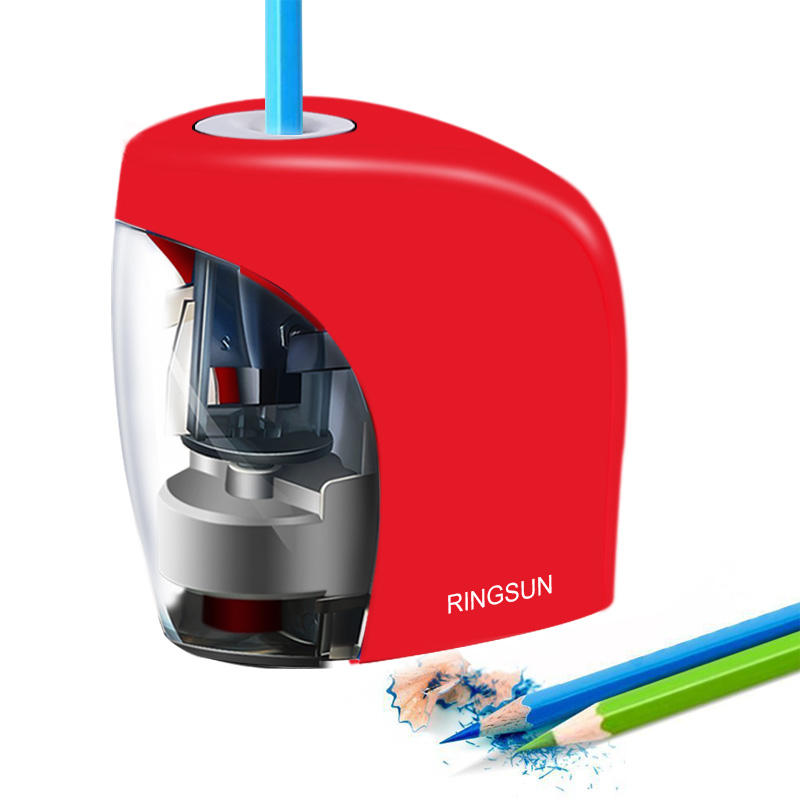 Electric Auto Pencil Sharpener School Sharpener Stationery Battery/USB Charge Powered