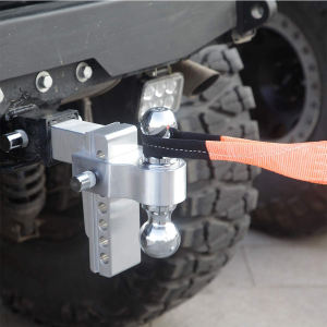Adjustable Trailer Tow Hitch Ball Mount Parts Aluminum Ball Mount Hitch for Towing Trailer with Pin lock