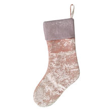 Wholesale blank magic small baby mermaid sequin Christmas Pink Velvet Stocking