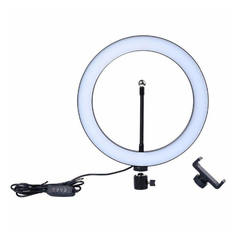 10 Inch Led Ring Light With Tripod Stand For Photographic Lighting Makeup Broadcast