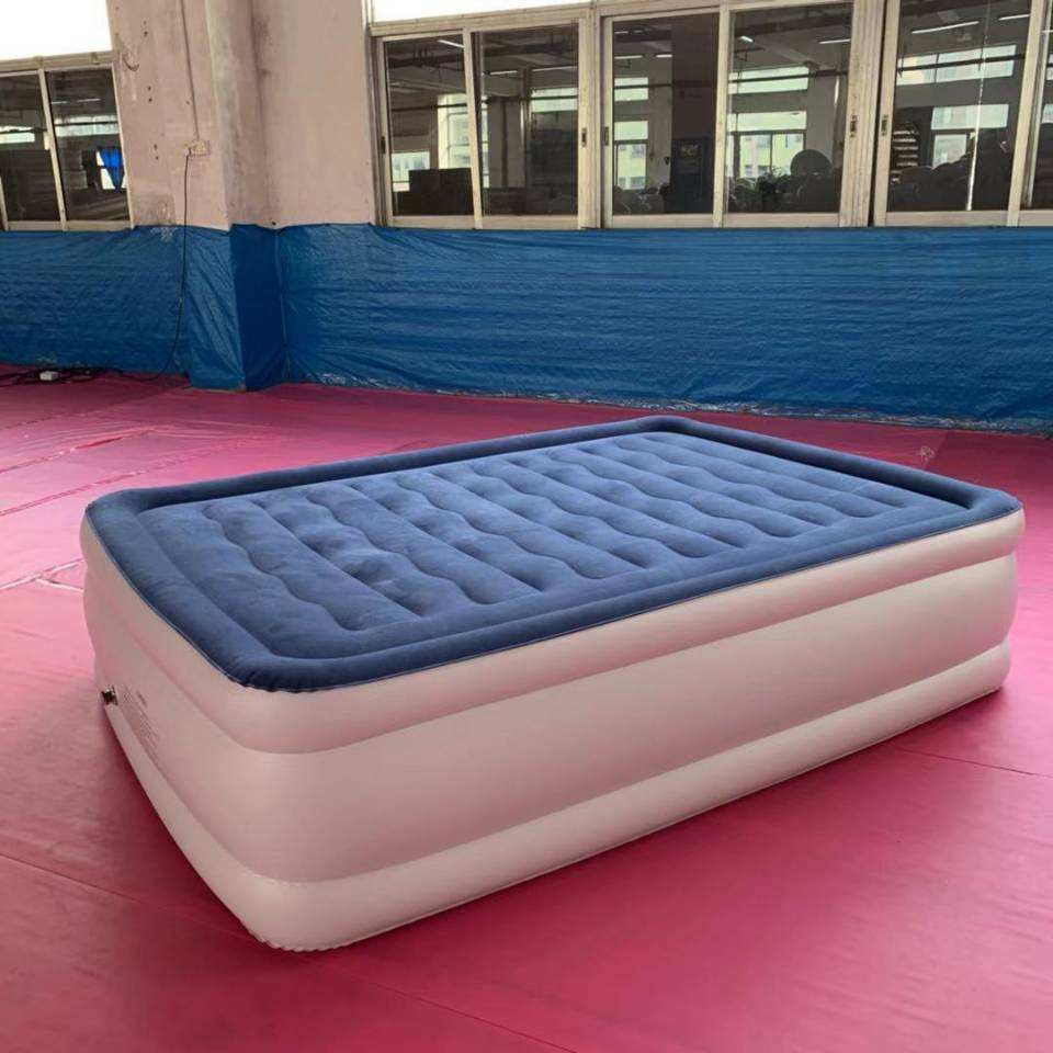 2019 Whosale sing double Comfort Sleep Queen inflatable Mattress Air bed with Built-In Pump