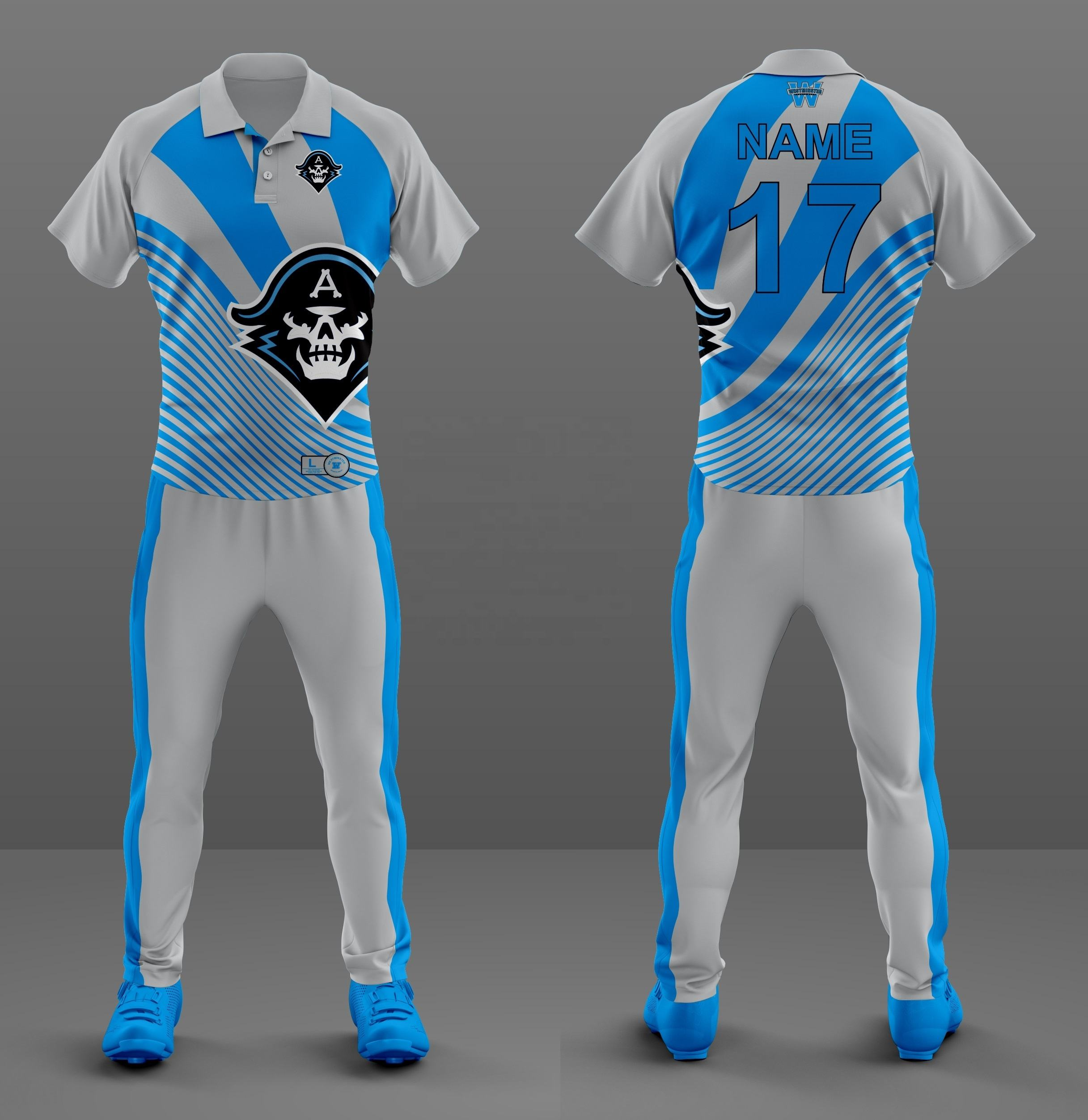 Sublimated Printing Mens New Design Sportswear Cricket Uniforms Wholesale Polo Shirt Custom Cricket Jerseys