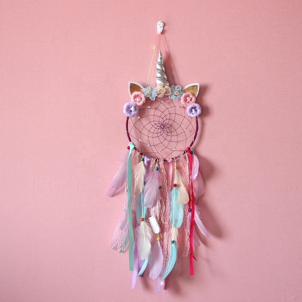 20cm Unicorn Dream Catcher Woven Handmade Wedding Decor Tapestry Wall Hanging Large Macrame Wall Hanging For Bed Room