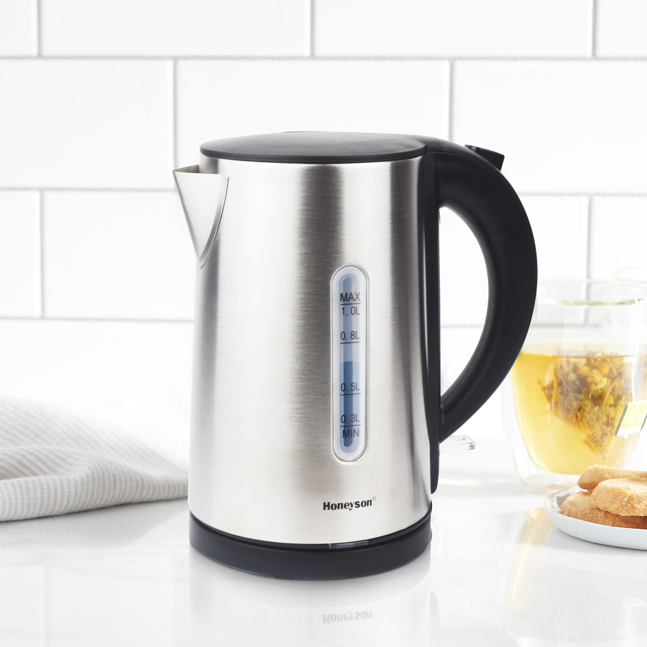 Honeyson 1litre stainless steel electric kettle for coffee