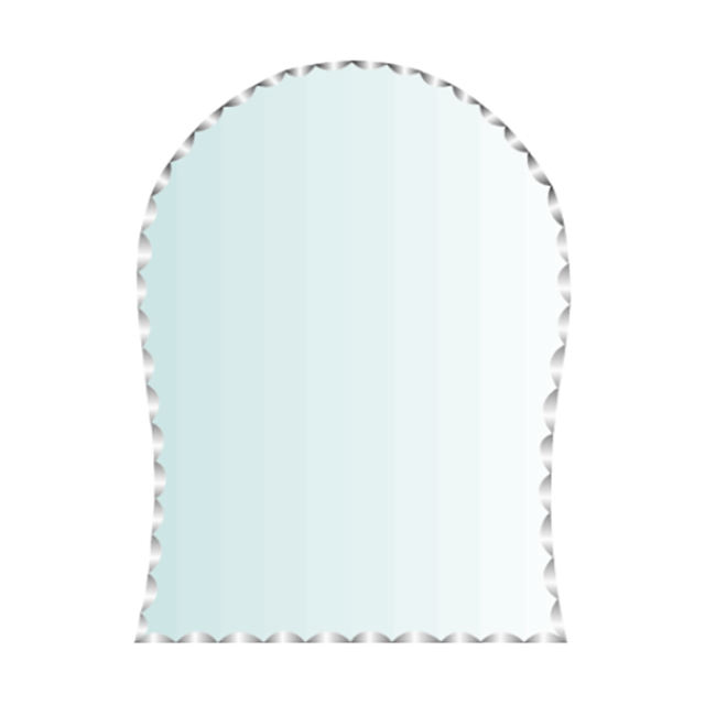 High quality white beleved design decorative wall mirror