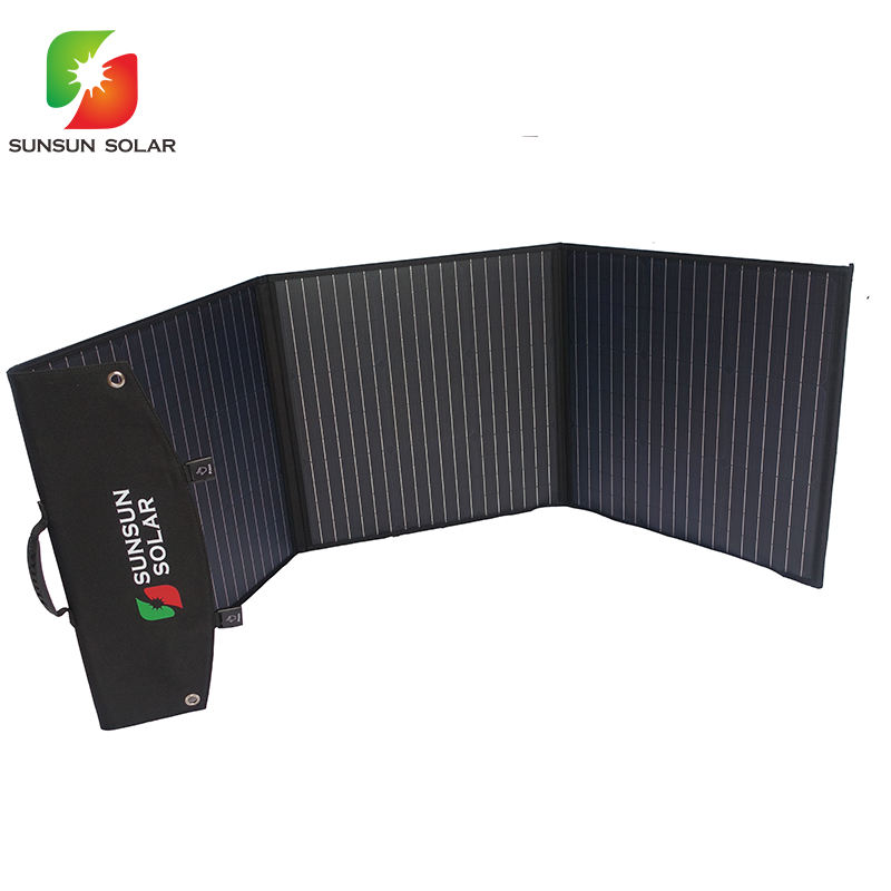 Sunpower 150W Solar Panel Foldable Charging Bag Solar Module To Charge Portable Power Generator