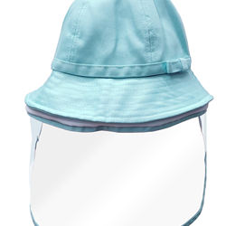 Top Selling Anti Spitting Anti Fog Blue Pink Yellow Bow Bucket Hat