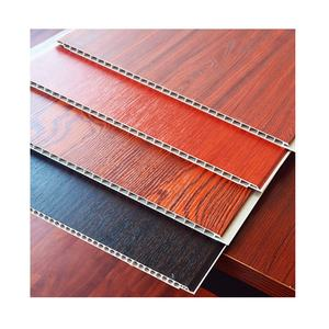 Panel decorativos moisture-Proof laminated PVC Integrated wooden decorative wpc wall panel