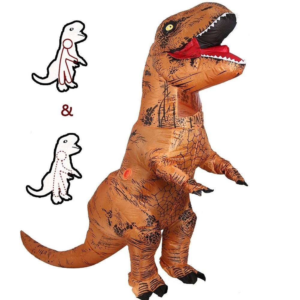 Inflatable Dinosaur T REX Costume Children Girl Boy Blowup Halloween Cosplay Party Costume for Kids Inflatable Dinosaur Costume