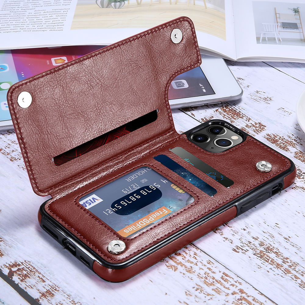 Free Shipping New Products Shockproof Leather Phone Case For iPhone 11 Pro Max Wallet Cell Phone Case