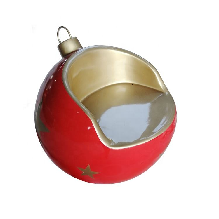 santa Christmas ball seat ornament ball chair commercial christmas decoration