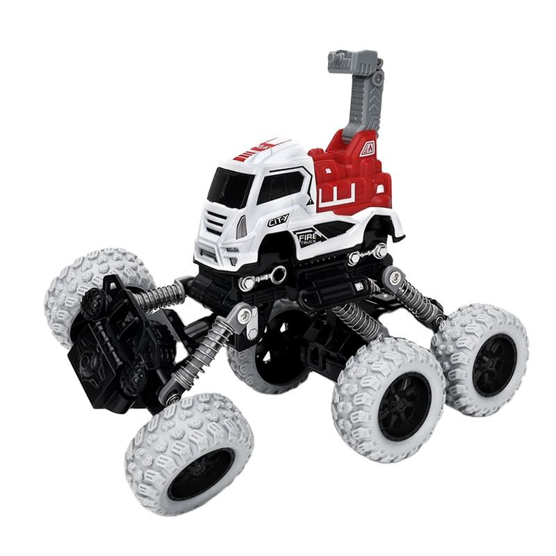 Cheap kid car toys diecast fire truck 4wd off-road vehicle pull back car toys for boy