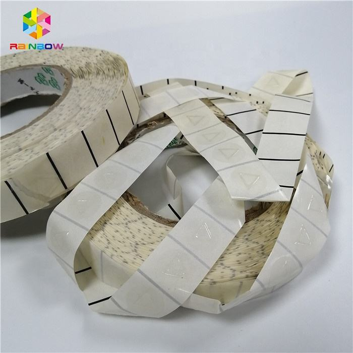 2500 pcs per roll PET free shipment stock triangle tactile labels in rolls