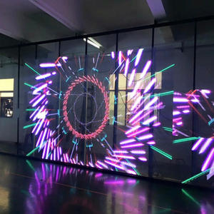 3d trasparente display a led schermo video wall modulo