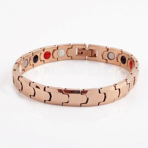 titanium pure magnetic therapy copper bracelet stainless steel copper arthritis for men
