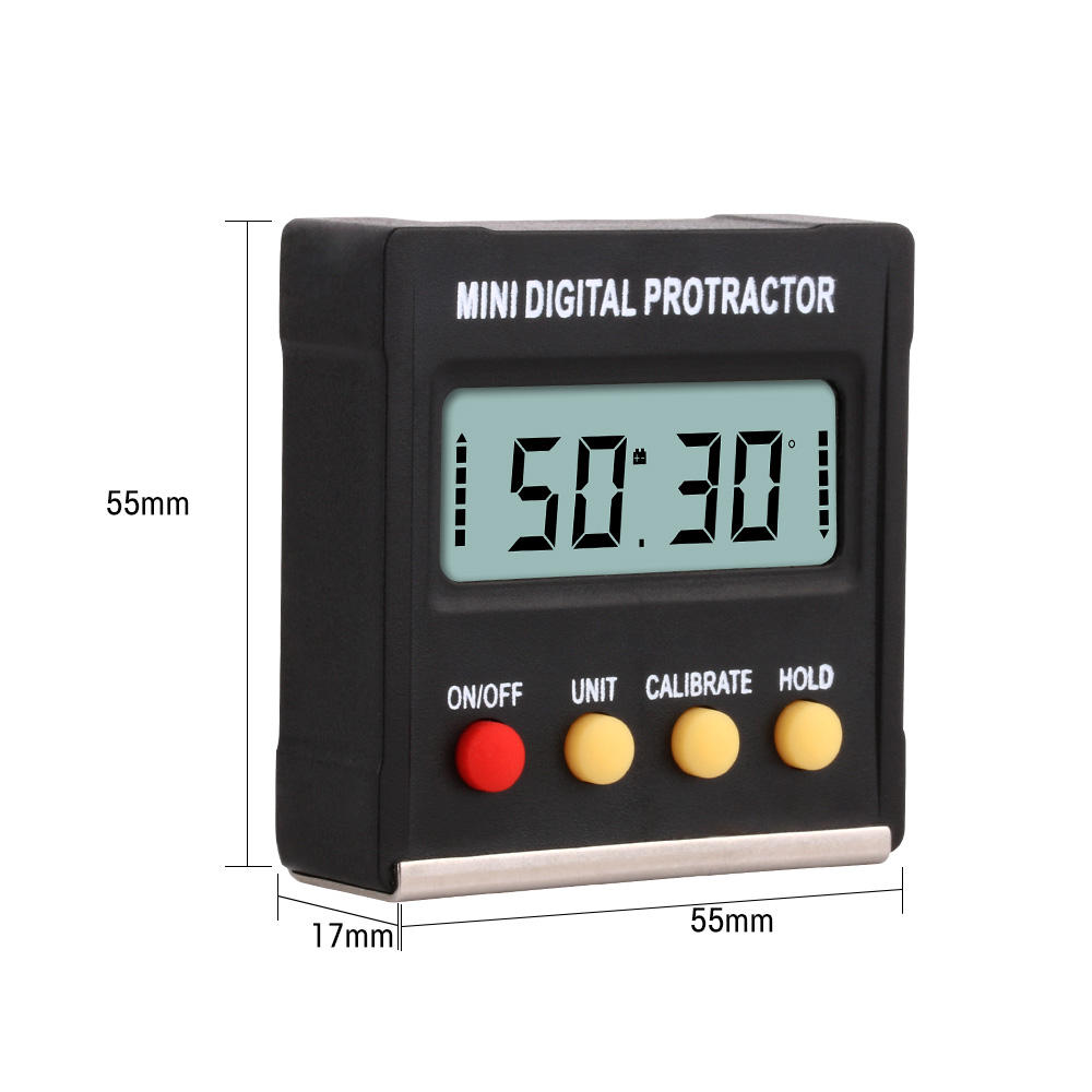 RZ Angle Protractor Universal Bevel 360 Degree Mini Electronic Digital Protractor Inclinometer Tester Tools MT2010