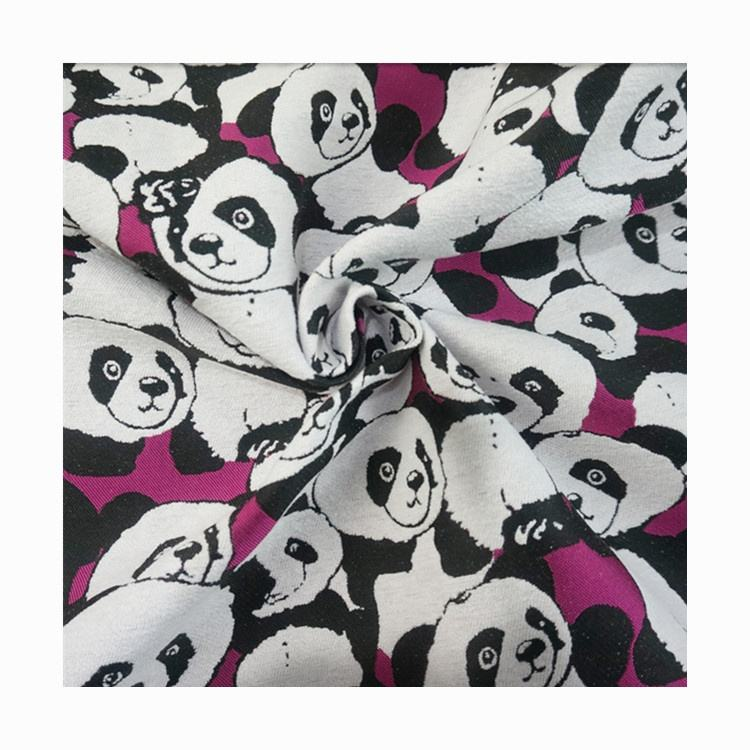Wholesale Thick chenille Panda yarn-dyed jacquard dress Home textile fabric women