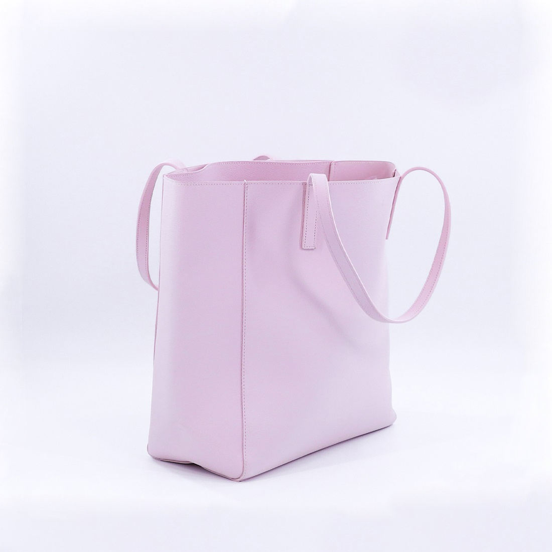 New Product Luxury Ladies Customized Totes Simple Pink PU Leather Handbags for Women
