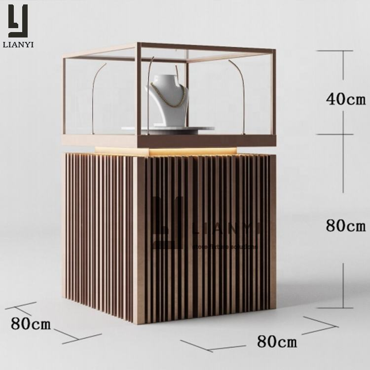 High quality profession jewelry store metal display cabinet furniture in china