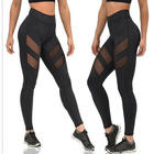Hot sale tights woman fitness workout mesh insert yoga leggings wholesale